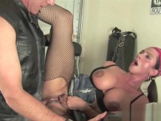 Ariella Ferrera Takes on Bikers Cock