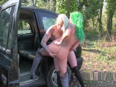 Two Hot Inked Lesbians In Fake Taxi