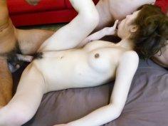 Horny Tsubasa Aihara meets two cocks and gets fucked hard