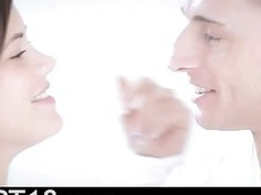 Cute russian beauty copulated on the floor