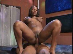 Bootylitious African goddess gets her both tight holes fucked