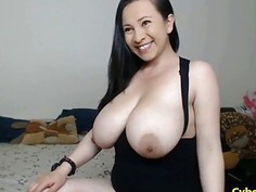 Babe With Huge Tits Fucked In Hairy Pussy