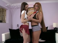 Whorish lesbian Candy Sweet desires to reach orgasm with horn-mad chick
